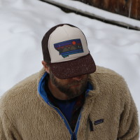 Montana SimplePlaces Sunset Lake Trucker Hat
