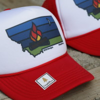 SimplePlaces Montana: Campfire Trucker Hats