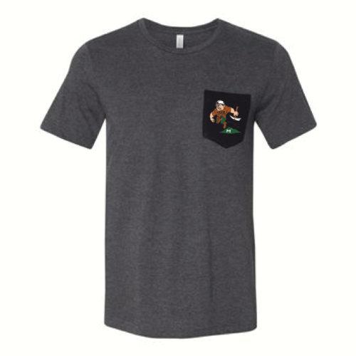 Montana Tech mascot Charlie Oredigger Pocket T-Shirt