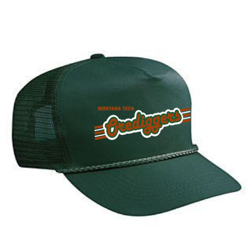 Retro Script hat Montana Tech