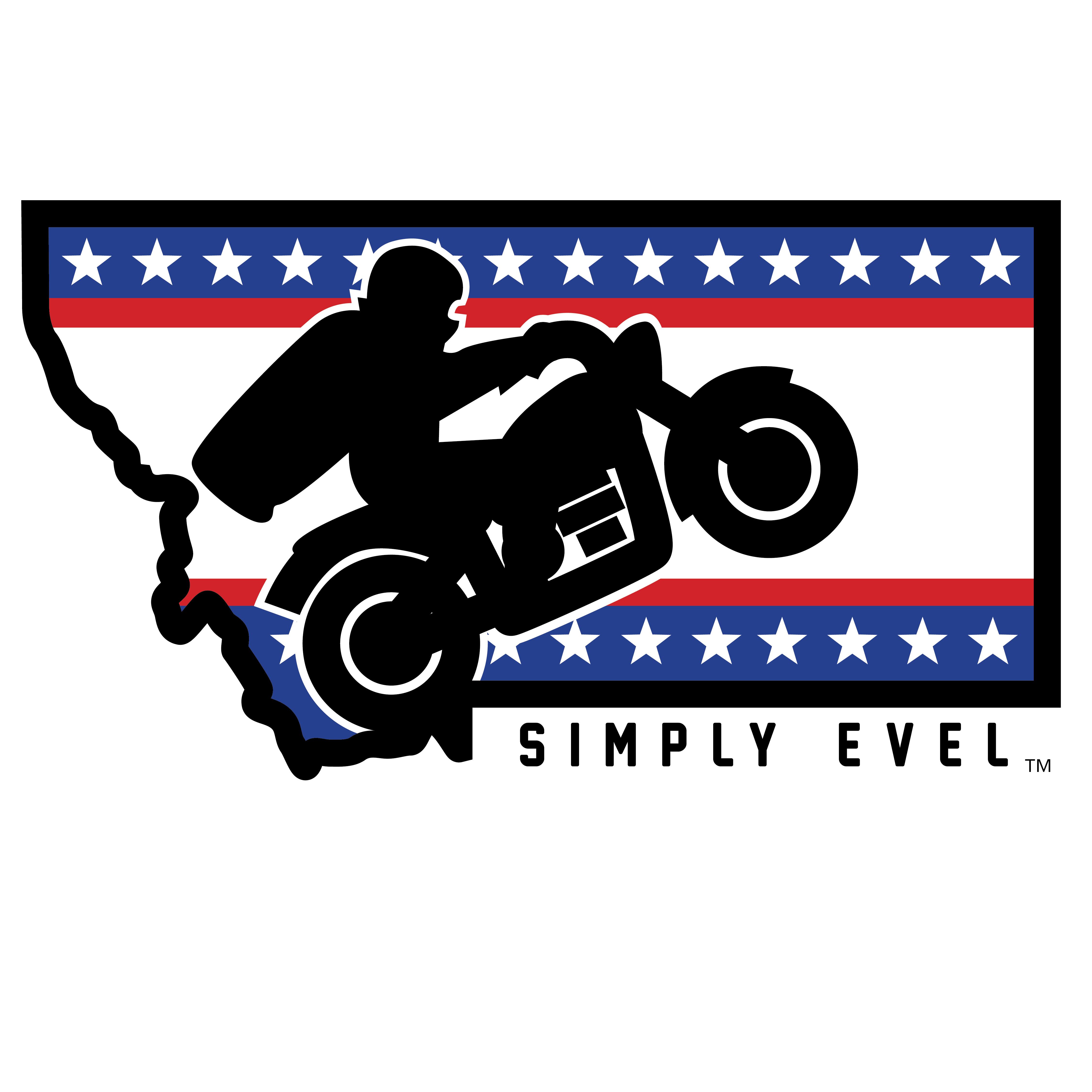 Evel knievel days stickers